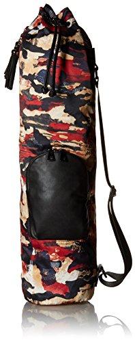 Sol and Selene Guru Yoga Mat Bag Drawstring, Red Multi, One Size For Sale