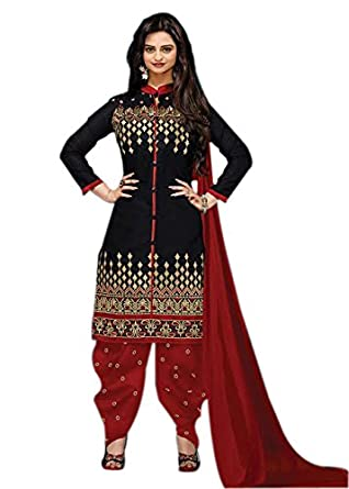 b7bd118219442e Great Indian Sale Dresses for women party wear Dress Material Designer  Clothing Today Offers Low Price Black Color Crepe Fabric Free Size Salwar  Suit: ...