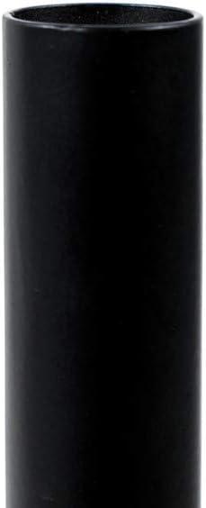 LIFA LIVING Lot de 2 bougeoirs Noirs de Sol Bougeoirs Chandeliers de 74 et 52 cm de Haut 2X bougeoirs m/étal d/écoratifs