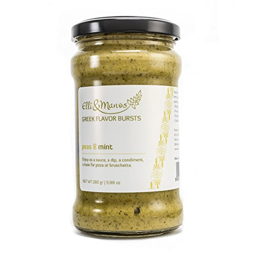 - Elli & Manos Greek Flavor Bursts - Peas & Mint - 280gr/9.88oz - highly concentrated spread/veggie dip