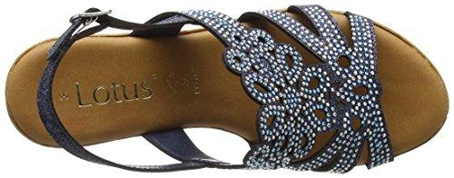 Lotus Ludisa, Sandalias con Correa de Tobillo Para Mujer Blue (Navy Glitz)