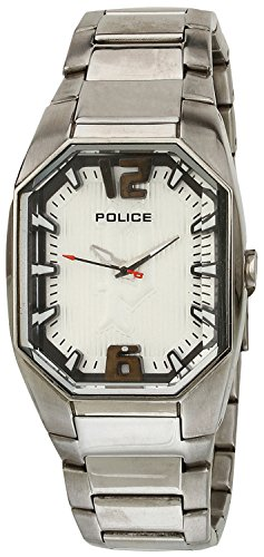 Police Women's PL-12895LS/04M Octane Octagon Silver Dial Stainless Steel Watch