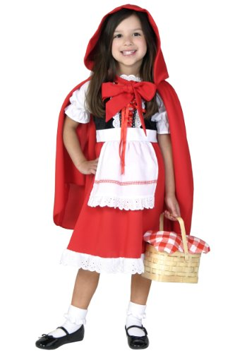 Little Red Riding Hood Costume for Children, Girls Halloween Cosplay Dress Masquerade Accessory (Cute Country Girl Costume)