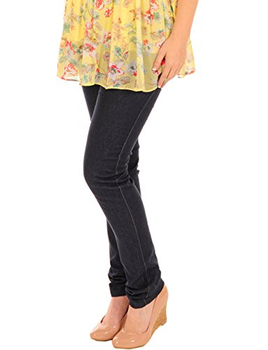 Pink Pixie Cotton Pregnancy Maternity Over Bump Skinny Slim Cut Jeans Blue