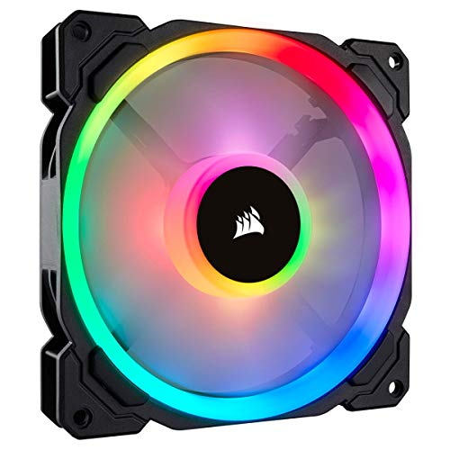 (Corsair LL Series LL140 RGB 140mm Dual Light Loop RGB LED PWM Fan, No Controller-  Single)