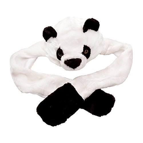 [Boy Girl Toddler Plush Animal Warm Hats Beanie with Paws Long Mittens - Panda] (Child Straight Jacket Costume)