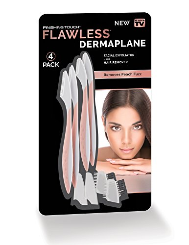 41ZvK-aFDaL Finishing Touch Flawless DermaPlane Facial Exfoliator and Hair Remover, Set of 4