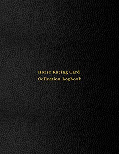 Horse Racing Card Collection Logbook: Sport trading card collector journal | Horse Racer Jockey inventory tracking, record keeping log book to sort ... sporting cards | Professional black cover