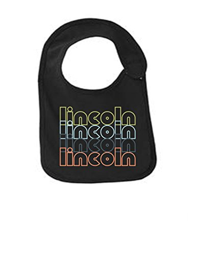 Lincoln Nebraska Retro Funny Infant Jersey Bib Black One Size ()