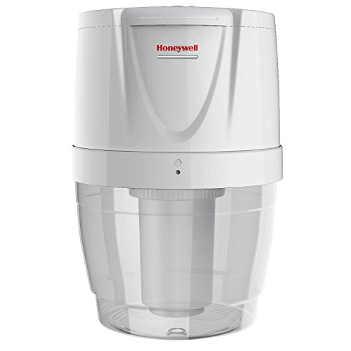 (Honeywell HWB101W Filtration System for Water Dispensers, Reduces Chlorine and Particulates to help improve water taste, Avoid water bottles heavy lifting, spills and storage, White)
