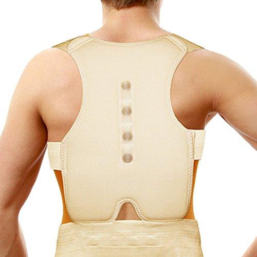 Unisex Double Padded Magnetic Back Support Corrector Shoulder Posture Brace Belt by Tonewear