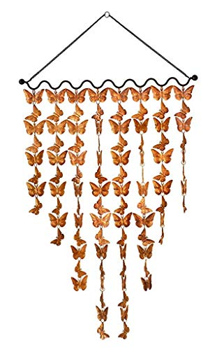 Monarch Pure Copper Butterflies Wind Chime, Large (2 Ft Wide) For Sale