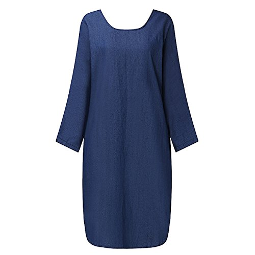 Blue Denim Dress - 4