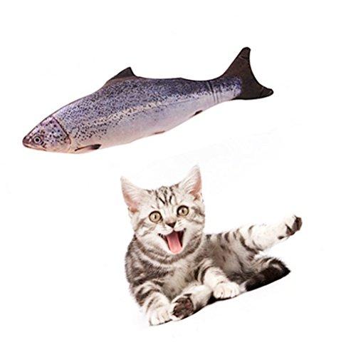 Cosmic Catnip Pillow (SAVING NOW Salmon Catnip Toy Cat Fish Toy Cat Supplies Catnip Kicker Toys 7.8in)