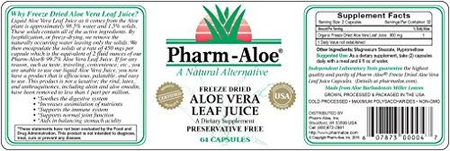 Aloe Vera Capsules - Ranked #1 by ConsumerLab.com by Pharm-Aloe (Image #2)