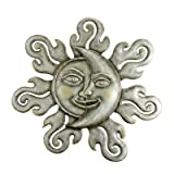SPI Home 33294 Sun and Moon Half Face Wall Plaque