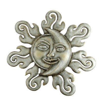 SPI Home 33294 Sun and Moon Half Face Wall Plaque by SPI Home