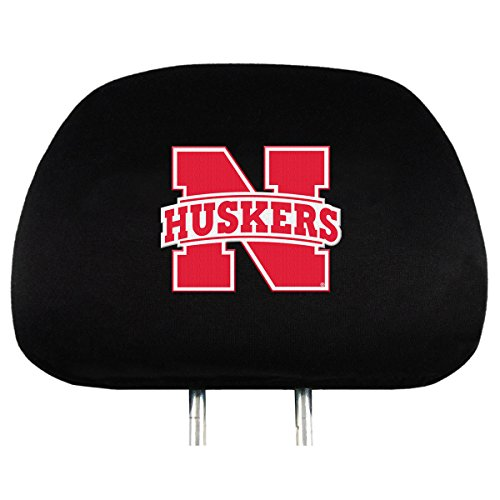 NCAA Nebraska Cornhuskers Head Rest Covers, - Connecticut In Mall