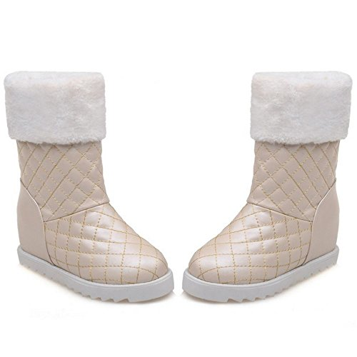 Boots apricot Height Increasing On KemeKiss Women Pull pBqwqFf
