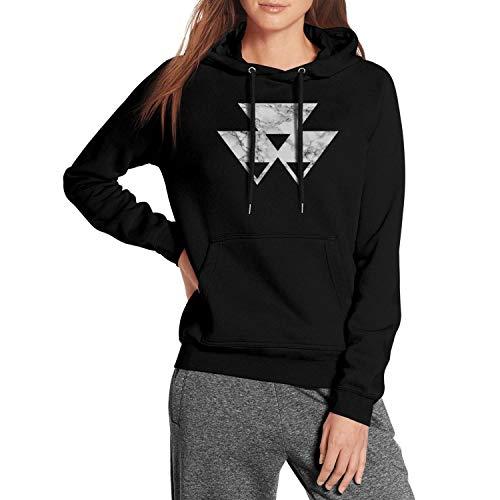 Heart Wolf Massey-Ferguson-White-Marble- Sweatshirts for Womens's Comfort Pullover Slim Fit Pullover Hoodie (Massey Ferguson 7 Lawn Tractor For Sale)