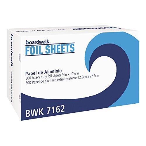 Boardwalk 7162 Pop-Up Aluminum Foil Wrap Sheets, 9 x 10 3/4, Silver (6 Packs of ()