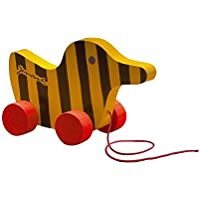 Little Tiger Verlag 85011 - Janosch Tigerente aus Holz mit Schnur, 19 cm