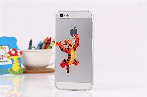 Disney Winnie The Pooh & Friends Transparent TPU Soft Case For Apple iPhone 7 TIGGER