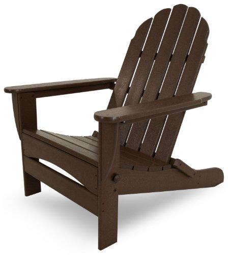 POLYWOOD AD7030MA Classic Oversized Curveback Adirondack Chair, Mahogany (Chair Polywood Adirondack Folding)