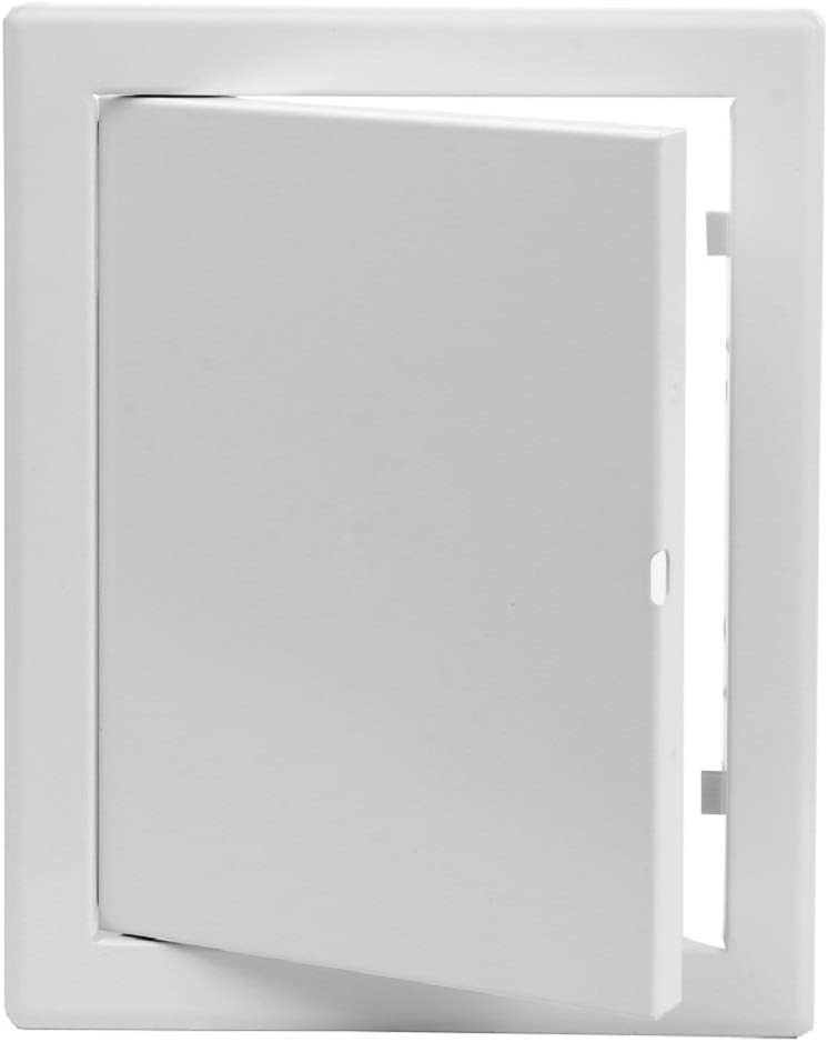 Trappe dinspection en m/étal Blanc 200 x 150 mm