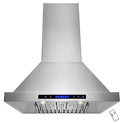 """AKDY 30"""" Stainless Steel Wall Mount Halogen Light Kitchen Vent Cooking Fan Range Hood w/ Baffle Filters"""
