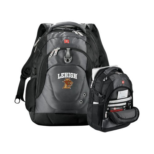 Lehigh Wenger Swiss Army Tech Charcoal Compu Backpack 'Official Logo' by CollegeFanGear