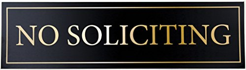 """No Soliciting Door Magnet - The Perfect """"No Soliciting"""" Sign For Metal Doors and Frames (2.5"""" x 9"""")"""
