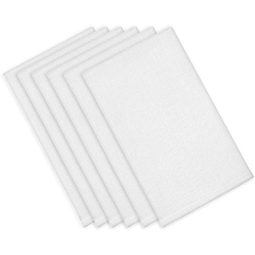 ITOS365 Cotton Dinner Napkins White - 6 Pack (18 inches x18 inches) Soft and Comfortable - Durable Hotel Quality - Ideal for Events and Regular Home Use