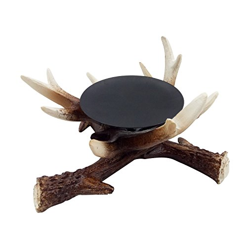 D.Jacware Christmas Resin Deer Antler Candle Holder AZJ30002 (Candle Holder Resin)