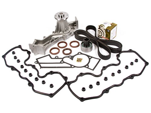 Evergreen TBK249VCT3 Fits 96-04 Nissan Infiniti SOHC VG33E Supercharged Timing Belt Kit Valve Cover Gasket Water ()