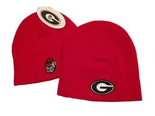 b23c4c1d45f Georgia Bulldogs Knit Hat UGA Beanie Red Skully Double Logo Cuffless One  Size NCAA - Buy Online in Oman.