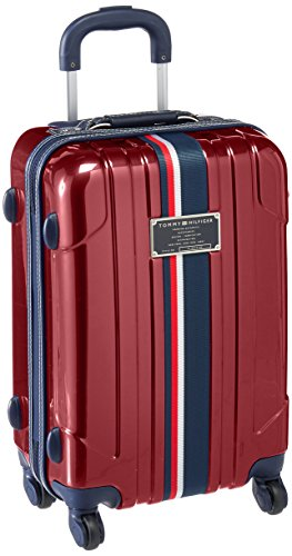 Tommy Hilfiger Lochwood 21 Inch Spinner Carry-On Luggage, Burgundy, One Size