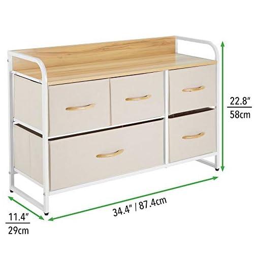 Bedroom mDesign Horizontal Storage Dresser Unit – Large Standing Furniture Room Organizer Cabinet for Bedroom, Hallway, Office… modern dressers