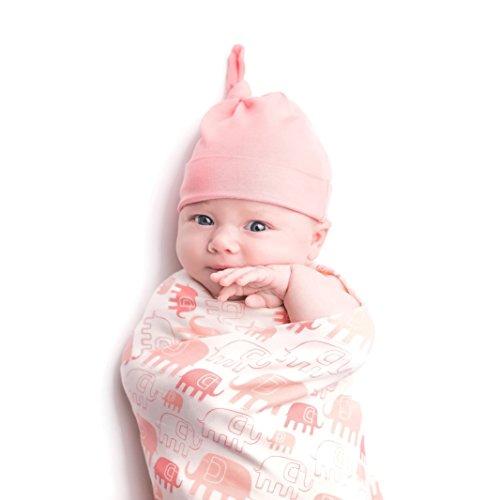 Price comparison product image Bestaroo Baby Swaddling Blanket, Elephant Pink