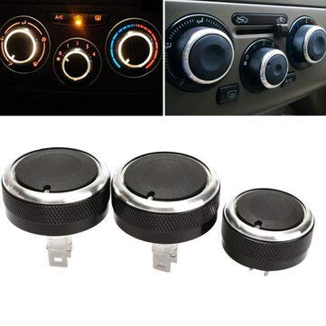 Switch Knob Button Headlight Conditioning Decoration Aluminum Alloy - 1PCs