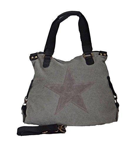 angesagte, topaktuelle Tasche, shopper,Tasche mit Stern olive