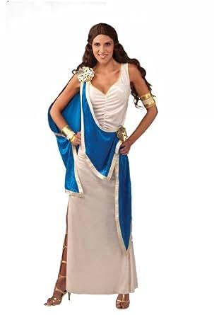 Forum Greek Goddess Costume, Blue/White, Standard
