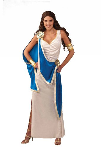 [Forum Greek Goddess Costume, Blue/White, Standard] (Hera Costumes)