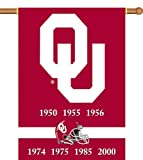 NCAA Oklahoma Sooners Champ Years 2-Sided 28-by-40 inch House Banner with  Pole Sleeve Review