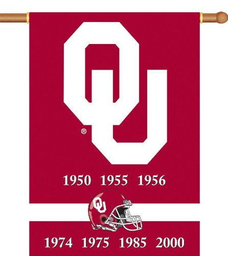 NCAA Oklahoma Sooners Champ Years 2-Sided 28-by-40 inch House Banner with  Pole Sleeve