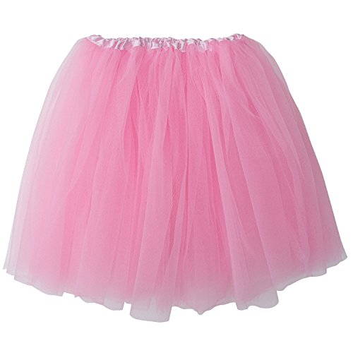 Extra Plus Size Adult Tutu XXL - Princess Costume Ballet Warrior Dash Running Skirt (Pink)