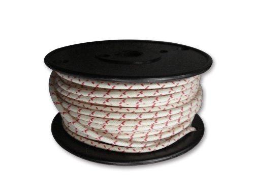 配線 ケーブル 布巻き ワイヤー 白 ホワイト x 赤 レッド 1ロール 約30m 配線太さ 16ゲージ B01LCJLCW2