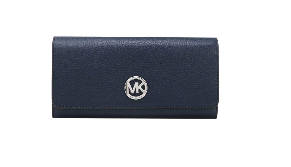 Michael Kors Fulton Flap Continental (Navy/Silver)