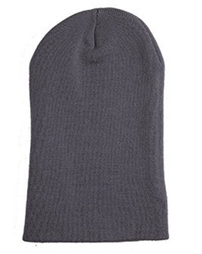 Yupoong 1501C Adult Heavyweight Cuffed Knit Cap - Dark Grey - ONE