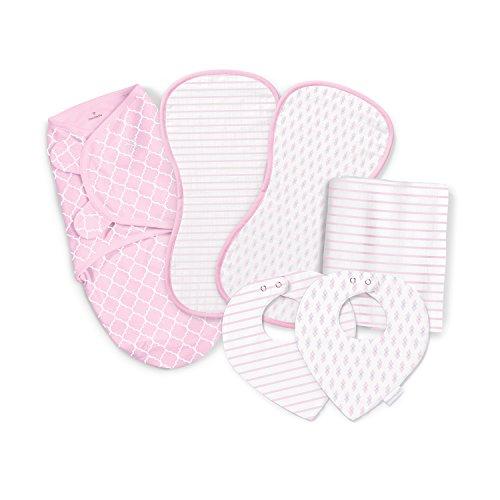 SwaddleMe Essentials 6 Piece Gift Set, Quatrefoil Cutie, One Size